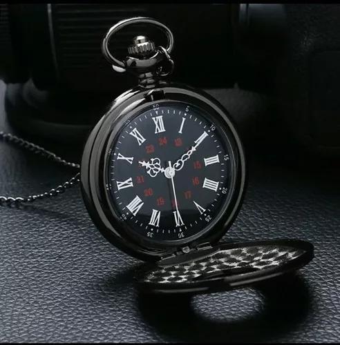 Promoção relógio de bolso quartz analógico c/ estojo