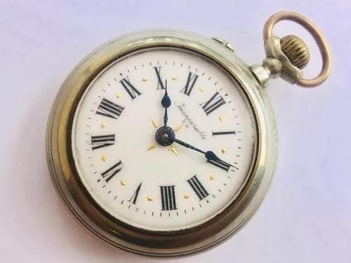 Raro relógio de bolso suíço insuperable f. r. século xix