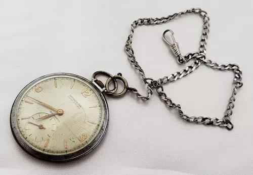 Relógio bolso antigo mondaine