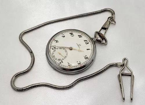 Relógio bolso antigo omega swiss made com corrente