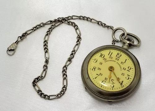 Relógio bolso antigo roskopf patent swiss made