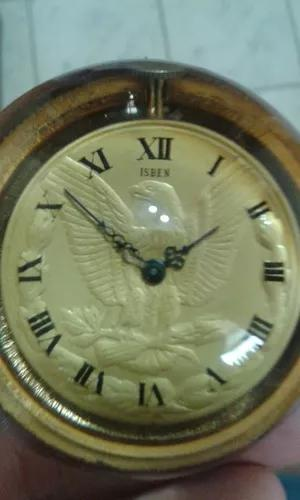 Relógio bolso isben 17 rubis raro chaveiro.. nao funciona