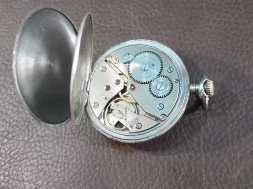 Relógio bolso mondaine a corda funcionando