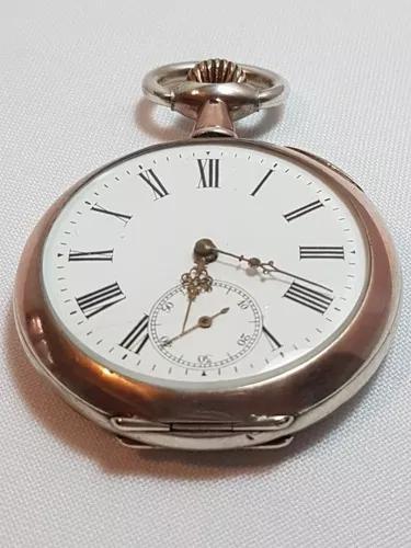 Relógio bolso prata maciça 0,800 contrastada spiral
