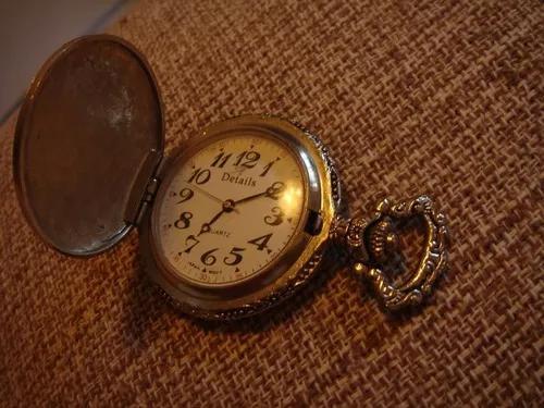 Relógio de bolso details quartz, japan movt.
