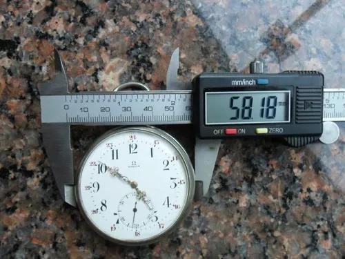 Relógio de bolso omega gigante jumbo 58mm