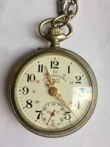 Relógio de bolso suíço roskopf - patent 18642 - ano 1900