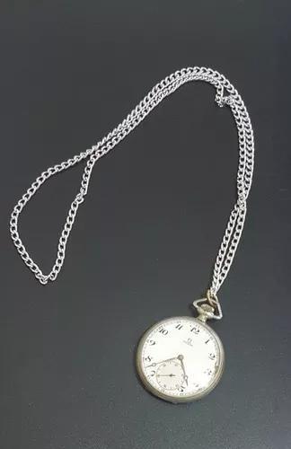 Relógio de bolso ômega ferradura, à corda todo funcional