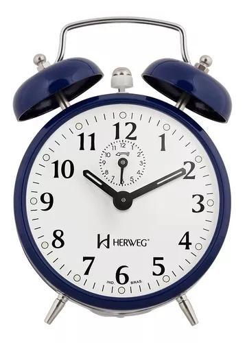 Relógio despertador antigo mecânico a cordas herweg