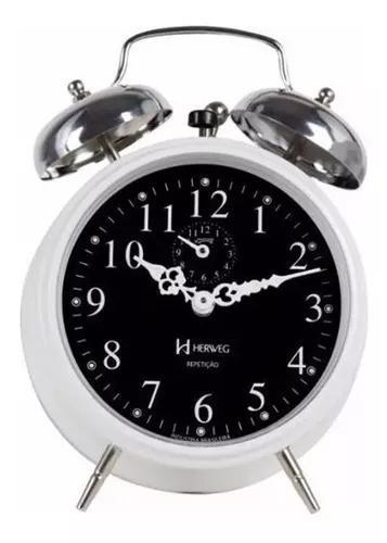 Relógio despertador mecânico estilo antigo (a corda)