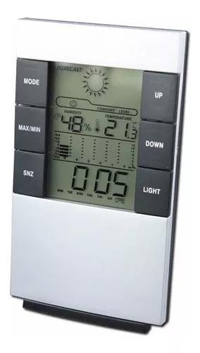 Relógio digital de mesa despertador previsão t