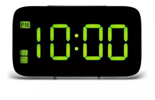Relógio digital despertador controle voz manual português