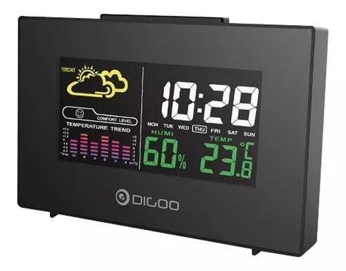 Relógio digital despertador previsão do t