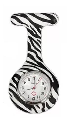 Relógio lapela silicone enfermeiras zebra listras no brasil