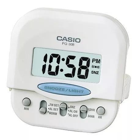 Relógio mini despertador digital casio pq-30 original nf