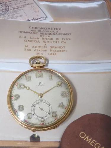 Relógio omega de bolso art deco ouro sólido antigo