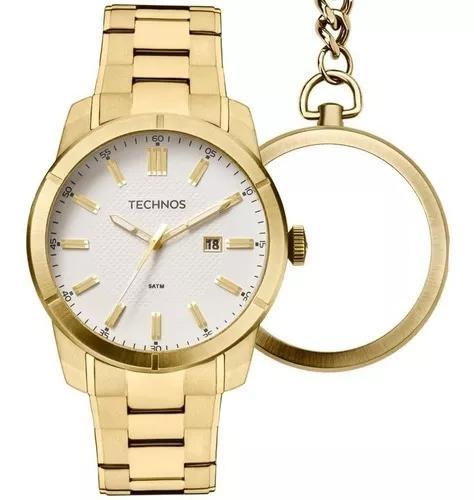 Relógio technos bolso gm10ye/4b gm10ye 4bdourado ouro