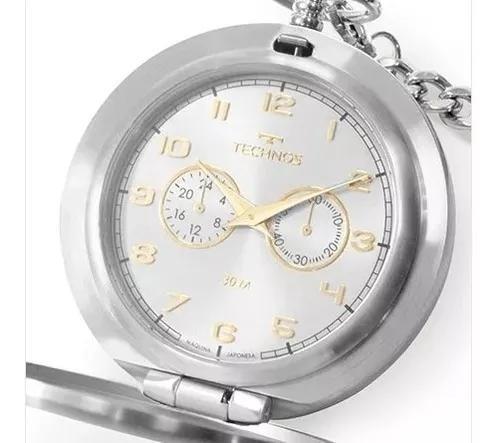 Relógio technos masculino heritage prata vd77ad/1k