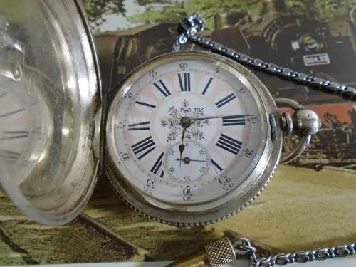 Relogio bolso antigo chavinha prata 0,800 cilindro ano 1800