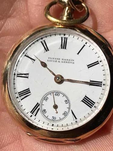 Ulysse nardin locle & geneve - mini pocket watch - 18k 750