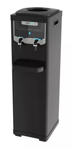Bebedouro de água coluna refrigerado elétrico newup preto
