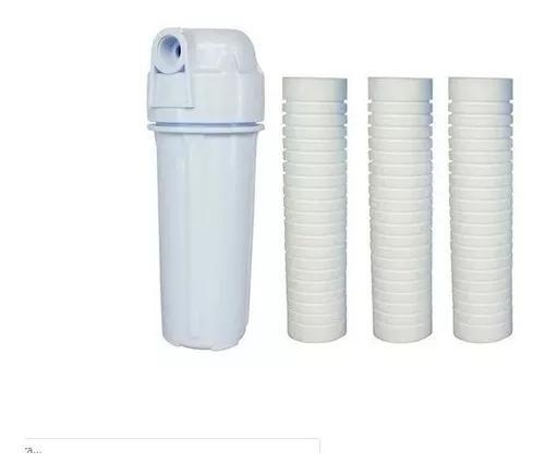 Filtro de água caixa água/ cavalete entrada/ com 3 refis