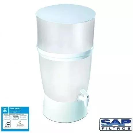 Filtro de água de plástico branco seleto 10 litros sap