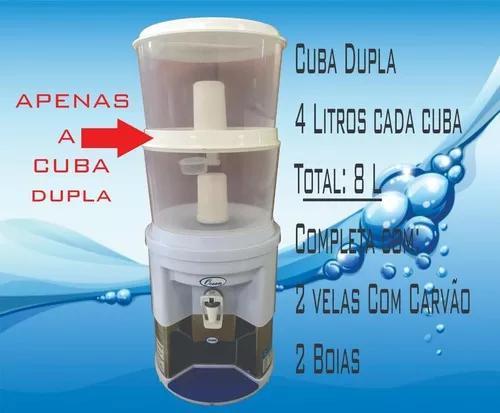 Galão reservatório duplo filtro ocean vela tripla ação