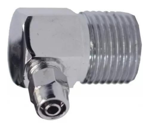 Niple metálico cego conexão de 1/2 p/ mang.1/4