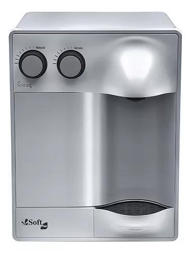 Purificador água refrigerado por compressor soft plus prata