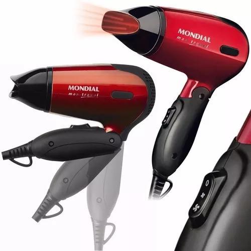 Secador cabelo portátil mondial sc-10 pequeno potente