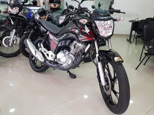 Honda cg 160 fan 2019 preta 2000 km