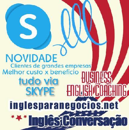 Inglês por skype conversação e business
