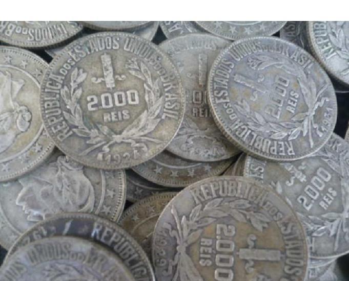 Compro moedas de prata 500 de 1922 até 1938 pg r$300,00 o