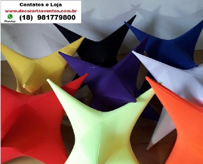 Estrela de tecido e fitas metálicas p decoração