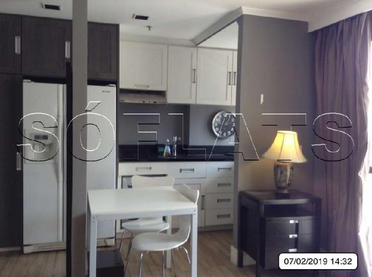 Flat com 2 quartos para alugar, 52 m² por r$ 2.300/mês