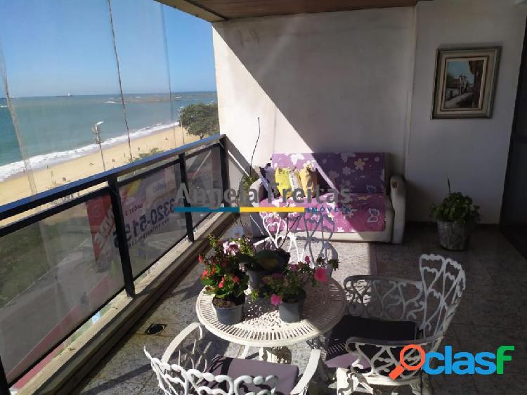 Amplo 4 quartos 2 suítes frente mar na praia da costa