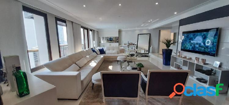 Apartamento mobiliado de 300 m²/4 dorms/5 vagas á venda no anália franco!!