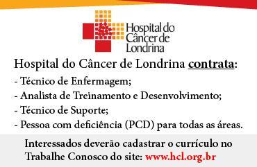 Hospital do câncer de londrina contrata:
