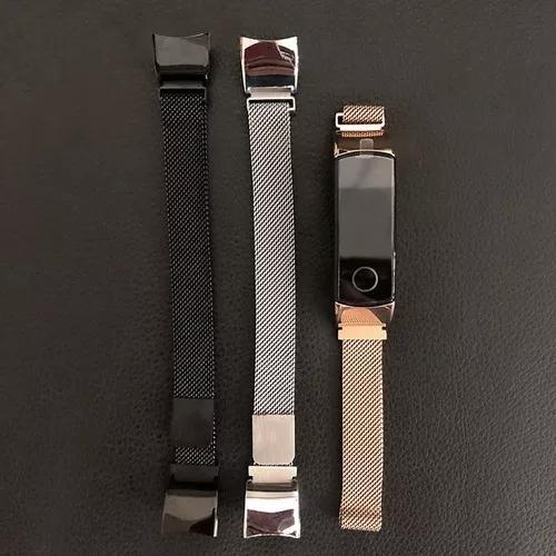 1 pulseira de aço honor band 4 + 3 películas