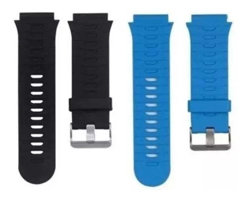 2x pulseiras forerunner 920xt silicone preta e azul