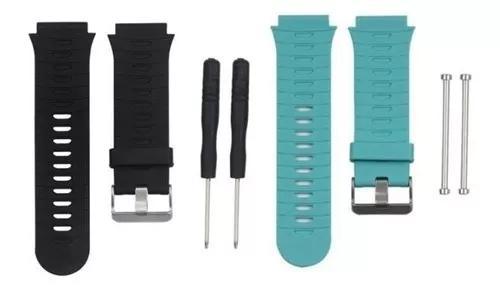 2x pulseiras forerunner 920xt silicone teal -preta