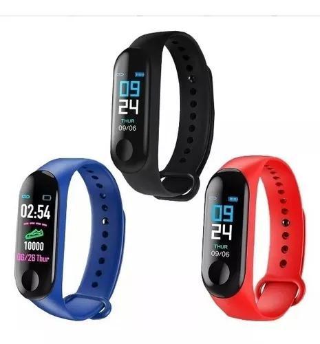 Kit 10 pulseira inteligente relógio m3 monitor novo