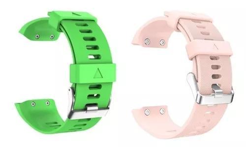 Kit 2x pulseiras relógio garmin forerunner 35 -rosa -ver01