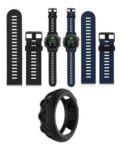Kit capa + pulseira fenix 3, fenix 3 hr - azul -preta
