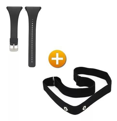 Kit pulseira + cinta elástica p/ polar ft7 ft4