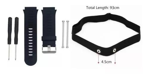 Kit tira monitor cardíaco garmin +pulseira 920xt preta