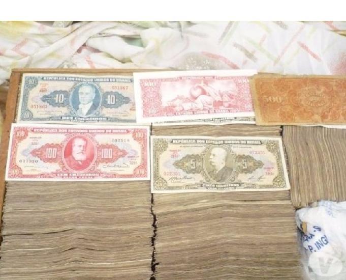 Milhares de cédulas antigas por r$0,50 cada