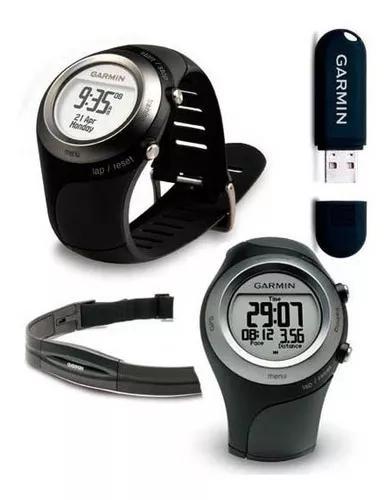 Monitor cardíaco com gps garmin 405 preto - completo