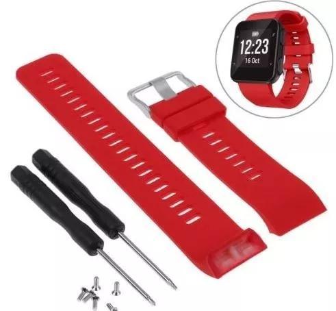 Pulseira para relógio garmin forerunner 35 - vermelha